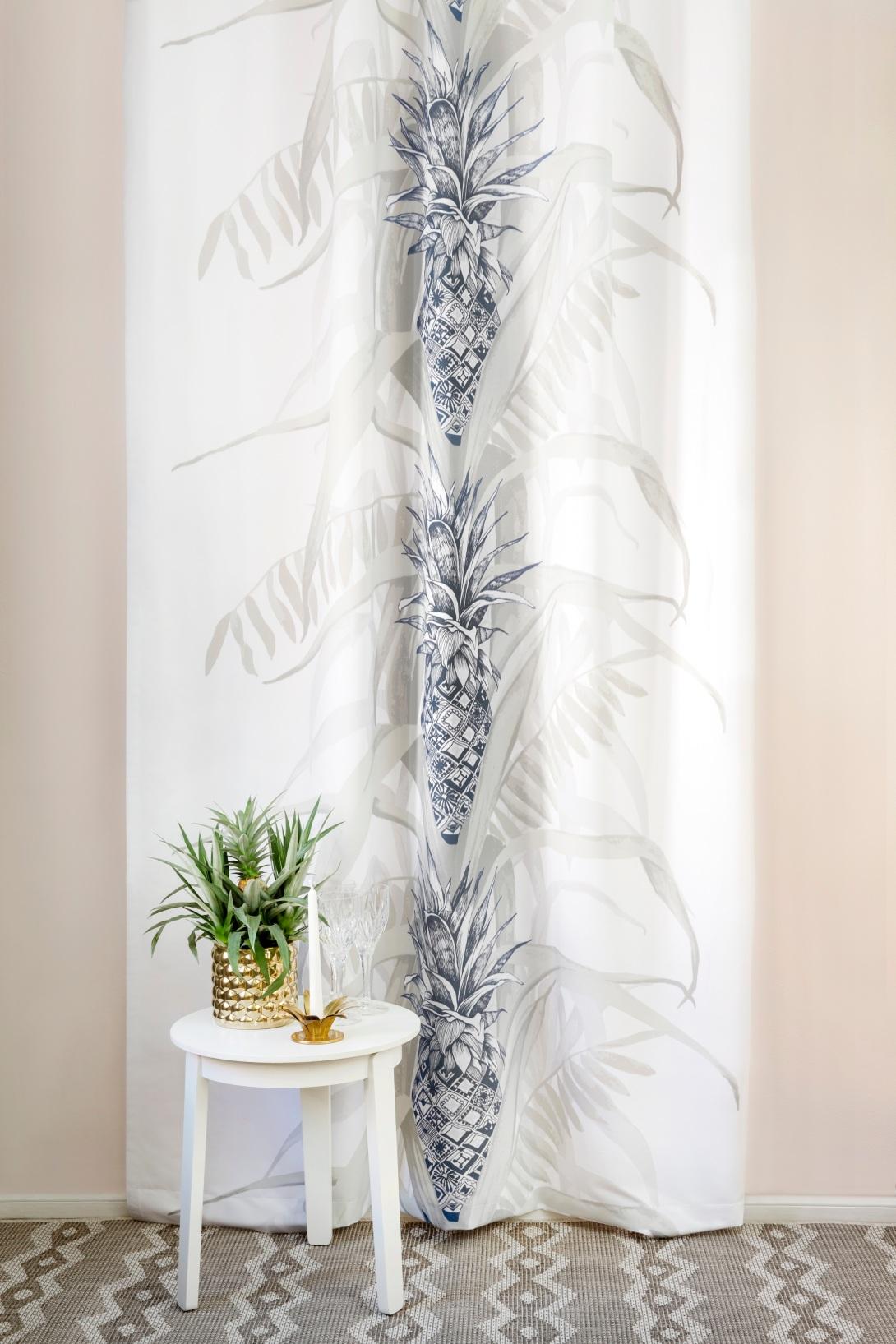 Vallila Interior Reimari Rug and Pina Colada Curtain